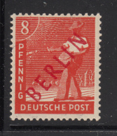 Germany  Berlin 1949 MH Scott #9N23 Red Overprint 8pf Sower - Neufs