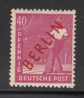 Germany  Berlin 1949 MH Scott #9N29 Red Overprint 40pf Sower - Neufs