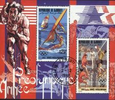 Djibouti (Dschibuti) 1984 Olympic Games, Volleyball, Sailing Used Cancelled Block M/S (U-42) - Djibouti (1977-...)