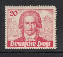 Germany  Berlin 1949 MNH Scott #9N62 20pf Goethe, 'Reineke Fuchs' - Neufs