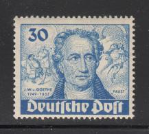 Germany  Berlin 1949 MNH Scott #9N63 30pf Goethe, 'Faust' - Neufs