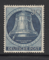 Germany  Berlin 1951 MH Scott #9N73 30pf Freedom Bell, Clapper At Left - Unused Stamps