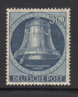 Germany  Berlin 1951 MH Scott #9N73 30pf Freedom Bell, Clapper At Left - [5] Berlin