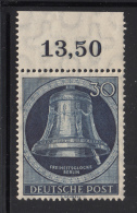 Germany  Berlin 1952 MH Scott #9N78 30pf Freedom Bell, Clapper At Right Margin Copy - Neufs