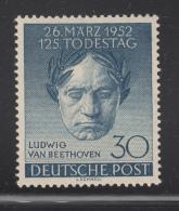 Germany  Berlin 1952 MH Scott #9N80 30pf Ludwig Van Beethoven - [5] Berlin