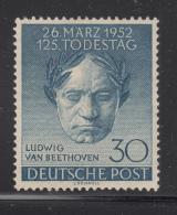 Germany  Berlin 1952 MH Scott #9N80 30pf Ludwig Van Beethoven - Musique