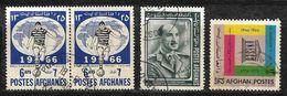 Afghanistan Stamp 1966 Footballer 6AFS, Football World Cup 1966, England,1966 Zahir Shah 1AF, 1966 UNESCO 20th Anniv - Afghanistan