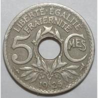 GADOURY 170 - 5 CENTIMES 1925 TYPE LINDAUER P.M. - TTB - KM 875 - France