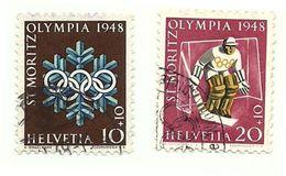 1948 - Svizzera 450/51 Olimpiadi Invernali, - Winter 1948: St. Moritz