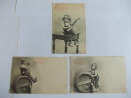 Lot De 3 Cartes D'une Même Série Edition Bergeret Nancy Le Petit Bourguignon - Postcards