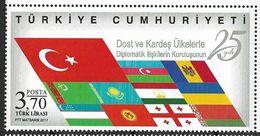 2017 Türkei Mi. 4340**MNH    25 Jahre Diplomatische Beziehungen Mit Befreundeten Ländern - Nuevos