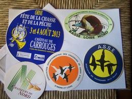 Autocollant-chasse Gibier D Eau---hutte-tonne -gabion - Stickers