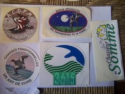 Autocollant-chasse Gibier D Eau---hutte Tonne Gabion - Stickers