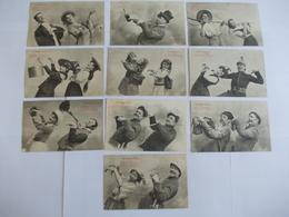 Lot De 9 Cartes D'une Même Série Edition Bergeret Nancy Le Cake Walk - Postcards
