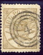 DENMARK 1865  Royal Insignia 8 Sk., Used. Michel 14A - 1864-04 (Christian IX)