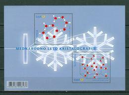 Slovenija 2014 Yv Bf 7**, Mi Bl 76** Mednarodno Leto Kristalografije - Joint Issue Slovenija/Belgium   MNH - Slovénie