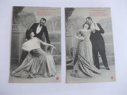 Lot De 2 Cartes D'une Même Série Edtion à Déterminer Noté Nancy Lèvres Qui Mentent - Postcards
