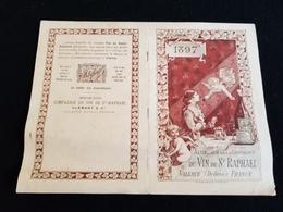 26 VALENCE Almanach CLEMENT Cie Apéritif St SAINT RAPHAEL QUINQUINA  Illustration Chasse Baigneuse Tennis Cycle Piano - Calendars