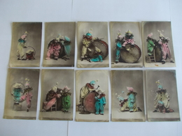 Lot De 10 Cartes D'une Même Série Edtion NPG Neue Photographische Gesellschaft - Cartoline