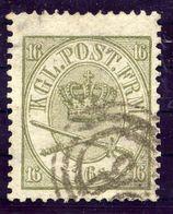 DENMARK 1864  Royal Insignia 16 Sk. Used.  Michel 15A - 1864-04 (Christian IX)