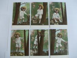 Lot De 6 Cartes D'une Même Série Jeune Enfant - Postcards