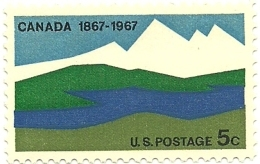 1967 - Stati Uniti 827 Centenario Del Canada, - Stati Uniti