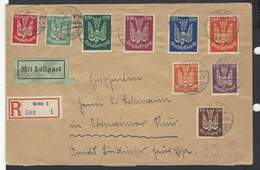 Germania - 1922 - Luftpost - Mi N. 210/18 - Storia Postale