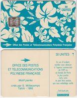 13/ French Polynesia; Blue Flowers, SC5, CN C42100730 - Polinesia Francese