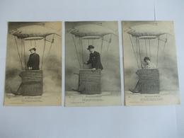 Lot De 3 Cartes D'une Même Série Poissons D'avril Edition Helmlinger Nancy - Postcards