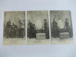 Lot De 3 Cartes D'une Même Série Oeufs De Pâques Edition Helmlinger Nancy - Postcards