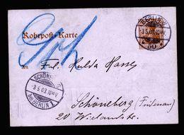 A5186) DR Rohrpostkarte Berlin 3.5.03 Nach Schöneberg Mi.RP13 - Deutschland