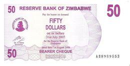 Zimbabwe - Pick 41 - 50 Dollars 2006 - Unc - Zimbabwe