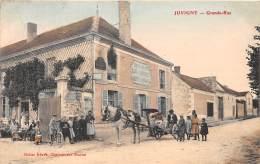 51 - MARNE / Juvigny - 513429 - Grande Rue -  Beau Cliché Animé Et Colorisé - Francia