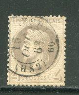 Y&T N°27 Cachet à Date De PARIS 16 Octobre 1868- HS2 - 1863-1870 Napoleone III Con Gli Allori