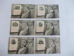 Lot De 6 Cartes D'une Même Série La Chanson Des Quenouilles Edition à Déterminer Noté Nancy - Postcards