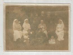 Photographie  , 18 X 13 , Militaria , Militaires, Infirmières, Bébés  , Frais Fr  1.55e - Guerre, Militaire
