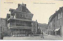 38     VIZILLE. ROUTE DE LAFFRET RUE NEUVE ET LE BUFFET DE LA GARE AN 1917. - Vizille
