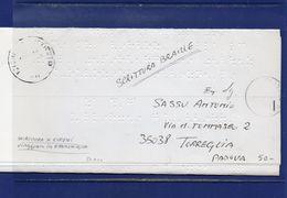 ##(DAN182)-1-3-1993  Piego In Esenzione Tassa, Scrittura Braille Per Ciechi Da Padova Per Torreglia(PD) -blinds Mail - 1991-00: Storia Postale