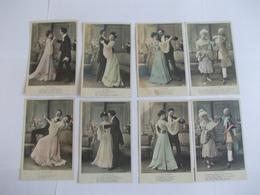 Lot De 8 Cartes D'une Même Série Différentes Danses Edition JK - Postcards