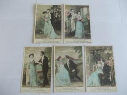 Lot De 5 Cartes D'une Même Série Promenades Nocturnes Edition ABC - Postcards