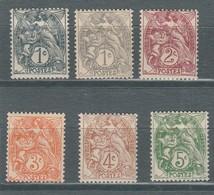 France N° 107, 107a, 108, 109, 110, 111  Type Blanc - France