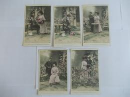 Lot De 5 Cartes D'une Même Série Lune De Miel De Stebbing Ph Edition FX - Postcards