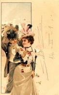 [DC11624] CPA - STUPENDA CARTOLINA ILLUSTRATA - COPPIA - PERFETTA - Viaggiata - Old Postcard - Illustratori & Fotografie