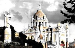 [DC11689] CPA - FRANCIA - LISIEUX (CALVADOS) - LA BASILIQUE - Non Viaggiata - Old Postcard - Lisieux