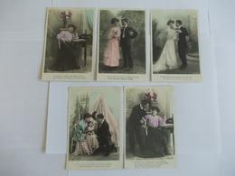 Lot De 5 Cartes D'une Même Série Edition AN Paris Armand Noyer - Postcards