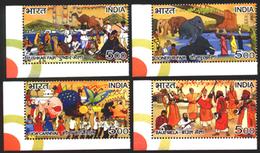 INDIA STAMPS, SET @F 4, 27 FEB 2007, FAIRS, MNH - India