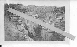 Novembre 1916 Somme Chaulnes Soldat Français Et Crapouillot Dans La Tranchée Sacs à Terre 1 Photo Ww1 1914-1918 - Guerre, Militaire