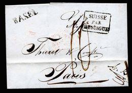 A5189) Schweiz Vorphilabrief Basel 18.9.1828 N. Paris - Schweiz
