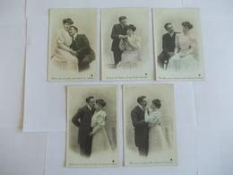 Lot De 5 Cartes D'une Même Série Couple Edition à Déterminer - Postcards