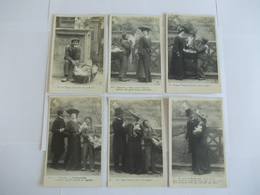 Lot De 6 Cartes D'une Même Série Pauvre Beppo Edition BL - Postcards